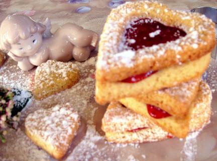 Печенье - сердце к Дню св. Валентина