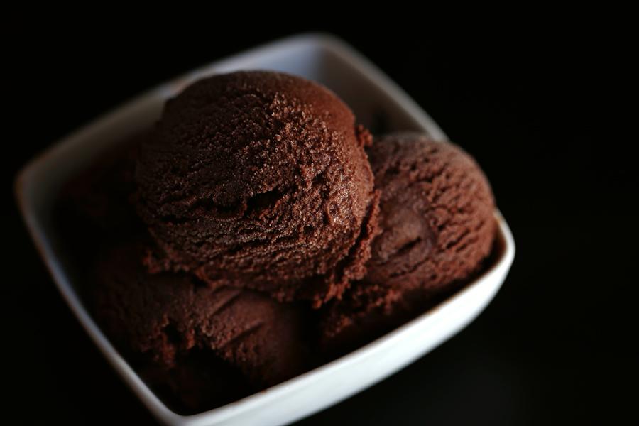 Шоколадное мороженое без сливок