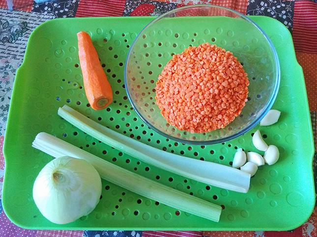 Продукты для чечевичного супа