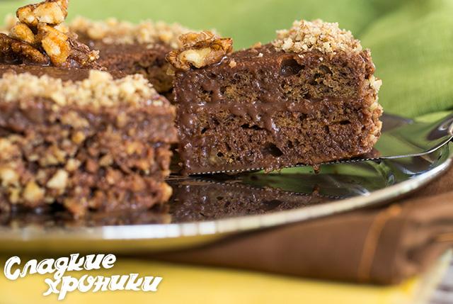Шоколадно-банановый-торт