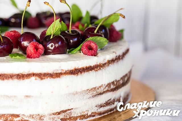 Торт сбоку