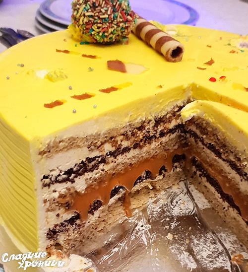Торт с пралине