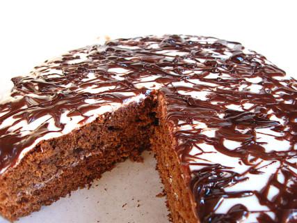 Легкий бисквитный торт