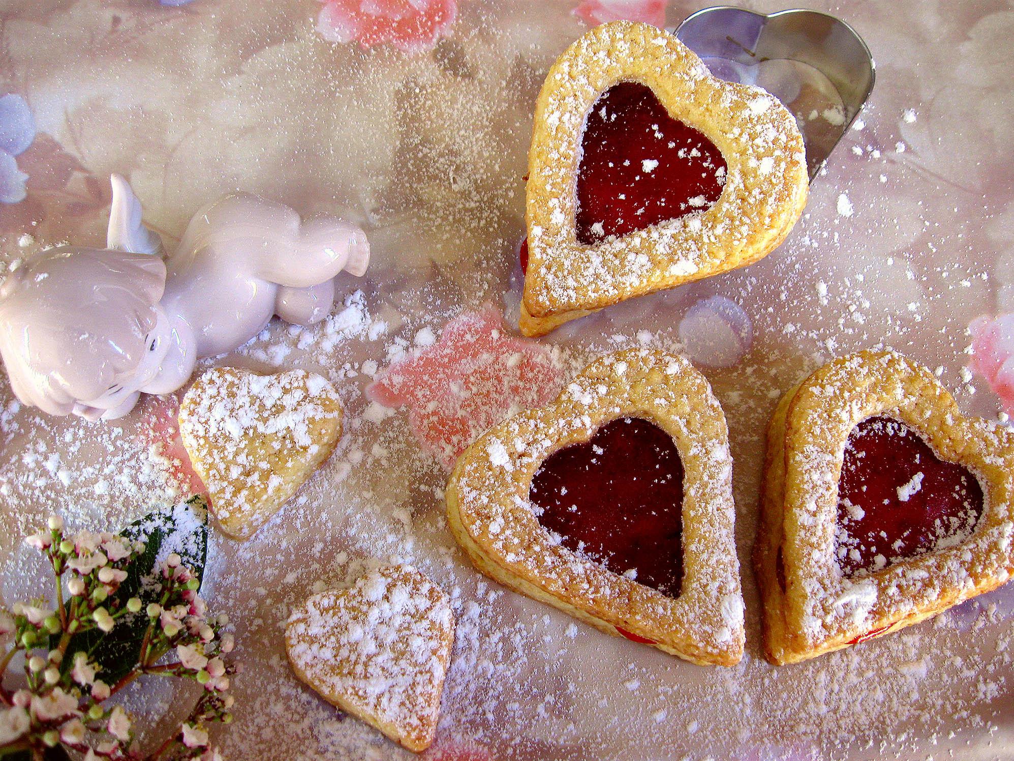 Печенье-сердце к Дню св. Валентина