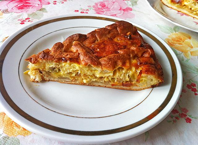 Заливной луковый пирог