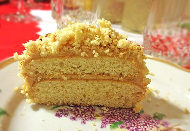 Пирожные со сгущенкой